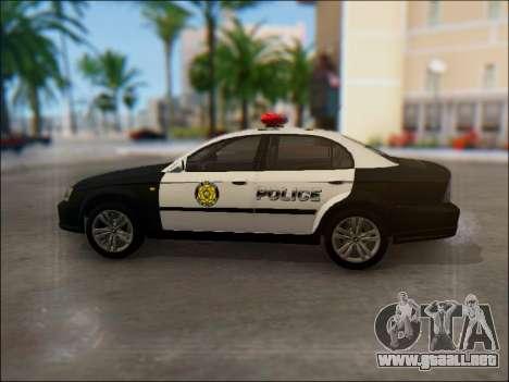 Chevrolet Evanda Police para GTA San Andreas left