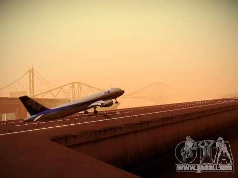 Airbus A320-211 All Nippon Airways para la vista superior GTA San Andreas