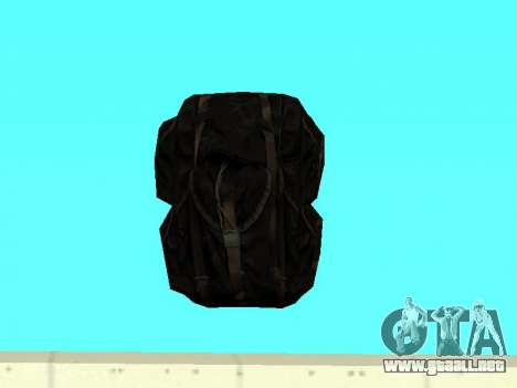 Negro en la mochila de Stalker para GTA San Andreas segunda pantalla