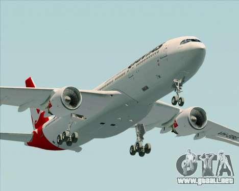 Airbus A330-200 Qantas para vista lateral GTA San Andreas