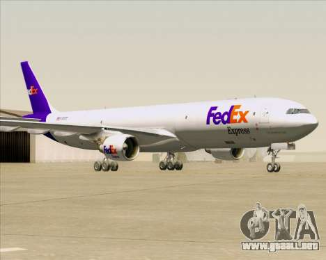 Airbus A330-300P2F Federal Express para GTA San Andreas left