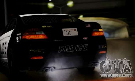 Vapid Police Interceptor from GTA V para visión interna GTA San Andreas