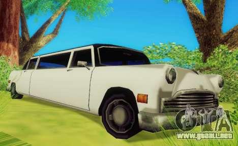 Cabbie Limousine para GTA San Andreas left