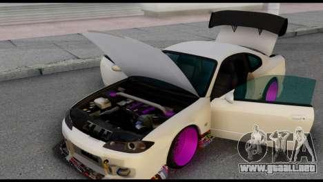 Nissan Silva S15 Turkish Drift para la visión correcta GTA San Andreas