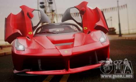 Ferrari LaFerrari F70 2014 para GTA San Andreas vista hacia atrás