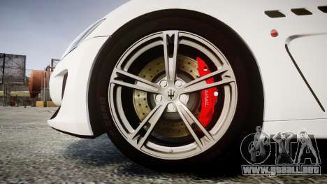 Maserati GranTurismo MC Stradale 2014 [Updated] para GTA 4 vista hacia atrás