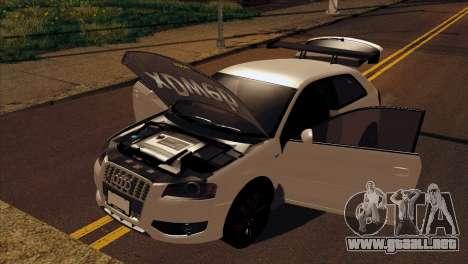 Audi S3 Tuned 2007 para la visión correcta GTA San Andreas