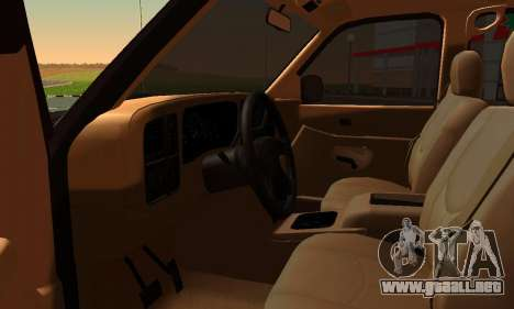 GMC Yukon XL ФСБ para GTA San Andreas vista posterior izquierda