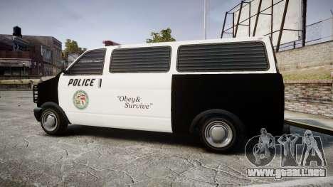Declasse Burrito Police Transporter LED [ELS] para GTA 4 left