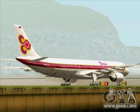 Airbus A330-300 Thai Airways International para GTA San Andreas vista hacia atrás