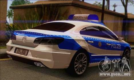 Volkswagen Passat CC Polizei 2013 v1.0 para GTA San Andreas left