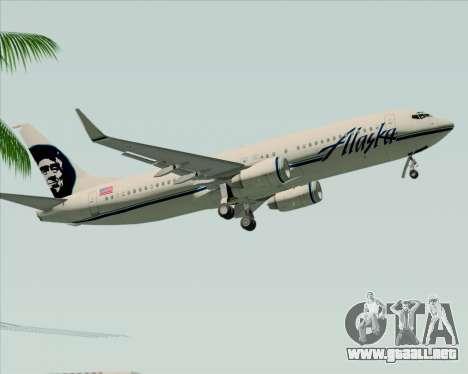 Boeing 737-890 Alaska Airlines para vista lateral GTA San Andreas