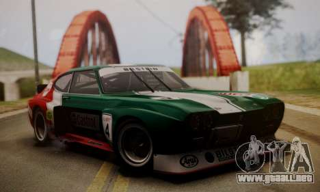 Ford Capri RS Cosworth 1974 Skinpack 2 para visión interna GTA San Andreas