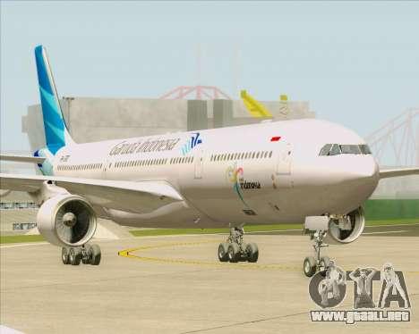 Airbus A330-300 Garuda Indonesia para GTA San Andreas vista posterior izquierda