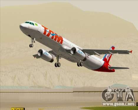 Airbus A321-200 TAM Airlines para el motor de GTA San Andreas