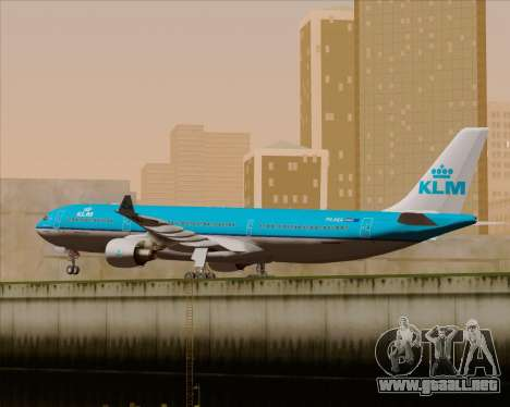 Airbus A330-300 KLM Royal Dutch Airlines para visión interna GTA San Andreas