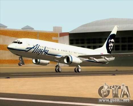Boeing 737-890 Alaska Airlines para visión interna GTA San Andreas