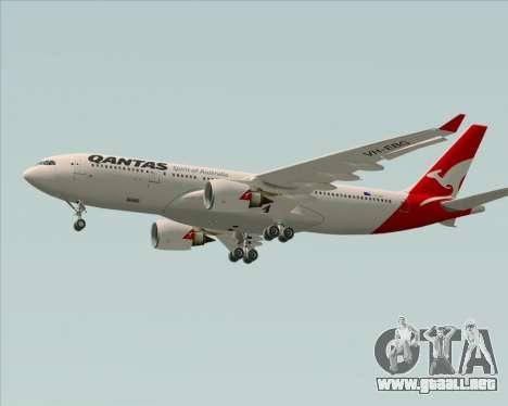 Airbus A330-200 Qantas para visión interna GTA San Andreas