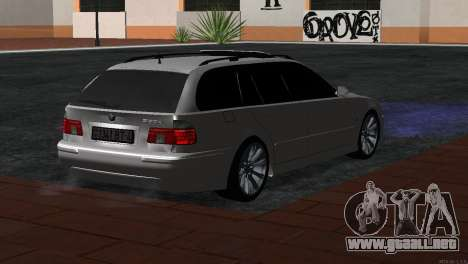 BMW 530d para GTA San Andreas left