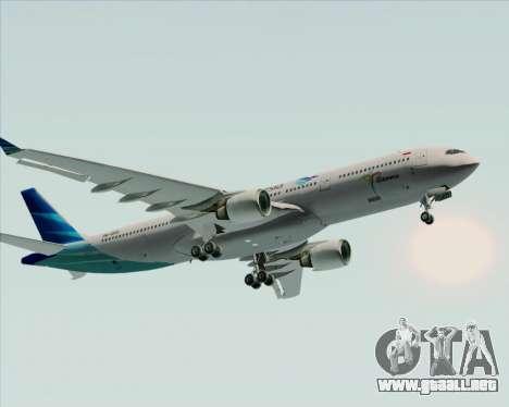 Airbus A330-300 Garuda Indonesia para la vista superior GTA San Andreas