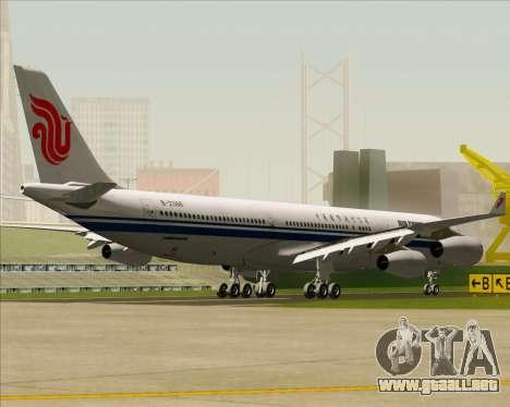 Airbus A340-313 Air China para GTA San Andreas vista hacia atrás