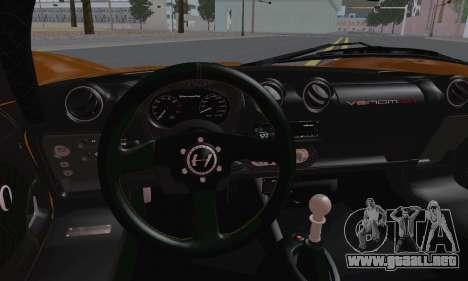 Hennessey Venom GT para GTA San Andreas vista hacia atrás