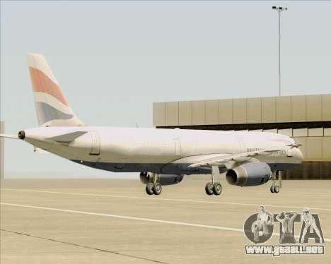 Airbus A321-200 British Airways para vista inferior GTA San Andreas
