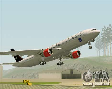 Airbus A330-300 SAS (Star Alliance Livery) para vista inferior GTA San Andreas