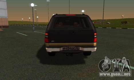 GMC Yukon XL ФСБ para GTA San Andreas vista hacia atrás