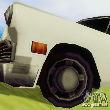 Cabbie Limousine para GTA San Andreas vista hacia atrás