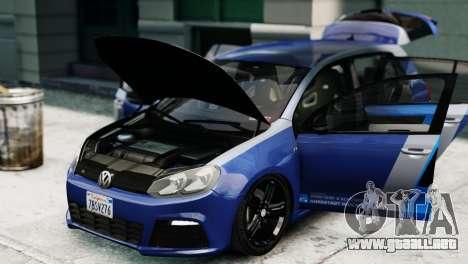 Volkswagen Golf R 2010 ABT Paintjob para GTA 4 visión correcta