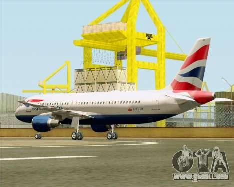 Airbus A320-232 British Airways para la visión correcta GTA San Andreas