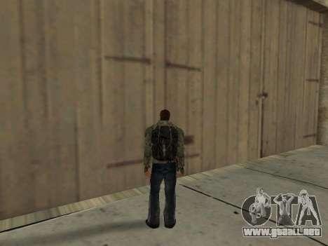 Negro en la mochila de Stalker para GTA San Andreas quinta pantalla