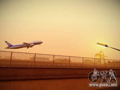 Airbus A320-211 All Nippon Airways para GTA San Andreas vista hacia atrás
