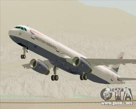 Airbus A321-200 British Airways para las ruedas de GTA San Andreas