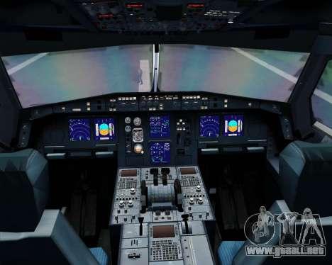 Airbus A330-300 SAS (Star Alliance Livery) para GTA San Andreas interior
