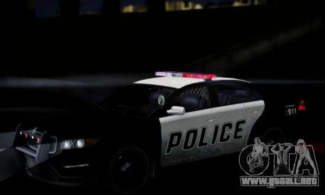 Vapid Police Interceptor from GTA V para la vista superior GTA San Andreas
