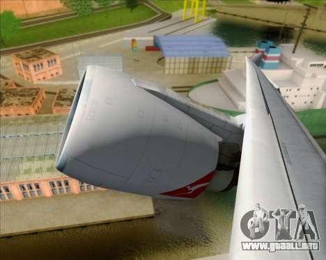 Airbus A330-200 Qantas Oneworld Livery para visión interna GTA San Andreas