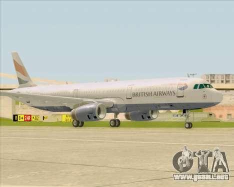 Airbus A321-200 British Airways para GTA San Andreas left