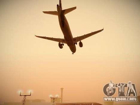 Airbus A320-211 All Nippon Airways para vista lateral GTA San Andreas