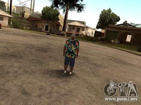 Camisa hawaiana como max Payne para GTA San Andreas sucesivamente de pantalla
