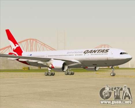 Airbus A330-200 Qantas para GTA San Andreas left