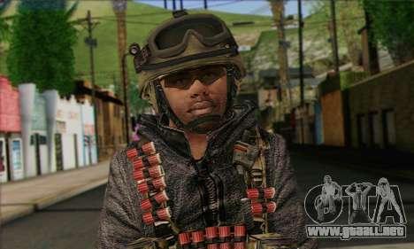 Task Force 141 (CoD: MW 2) Skin 10 para GTA San Andreas tercera pantalla