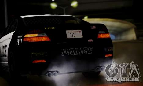 Vapid Police Interceptor from GTA V para GTA San Andreas vista hacia atrás