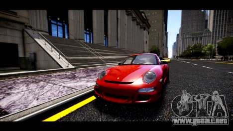 Porsche 911 GT3 RS para GTA 4 vista hacia atrás