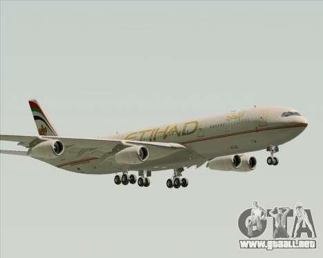 Airbus A340-313 Etihad Airways para GTA San Andreas vista posterior izquierda