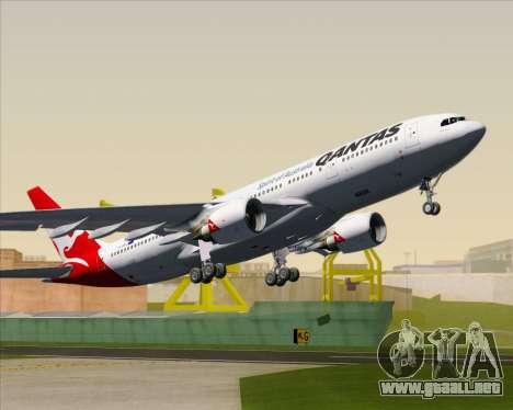 Airbus A330-200 Qantas para GTA San Andreas interior