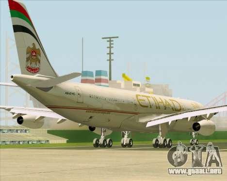 Airbus A340-313 Etihad Airways para las ruedas de GTA San Andreas