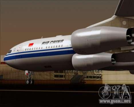 Airbus A340-313 Air China para vista inferior GTA San Andreas