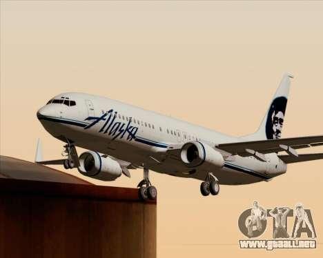 Boeing 737-890 Alaska Airlines para las ruedas de GTA San Andreas